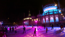 Grand opening of Brighton's Royal Pavilion Ice Rink 2016. Pictured is action from the event.  Thursday 3rd November 2016.  Photograph by Sam Stephenson, 07880 703135, www.samstephenson.co.uk.